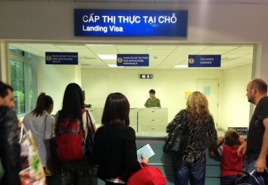 "In the Tan Son Nhat int'l airport (in Ho Chi Minh city), you will see an office called ""Landing Visa"""