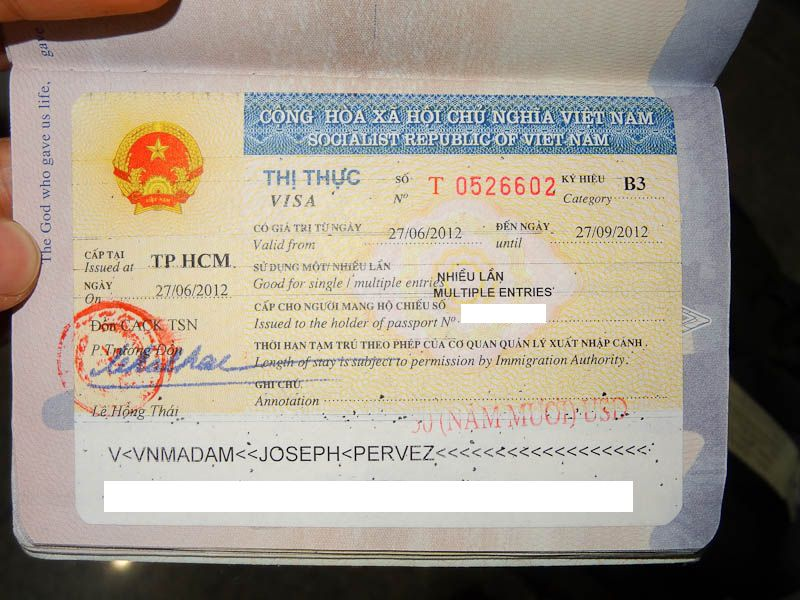 Vietnam multiple entries visa