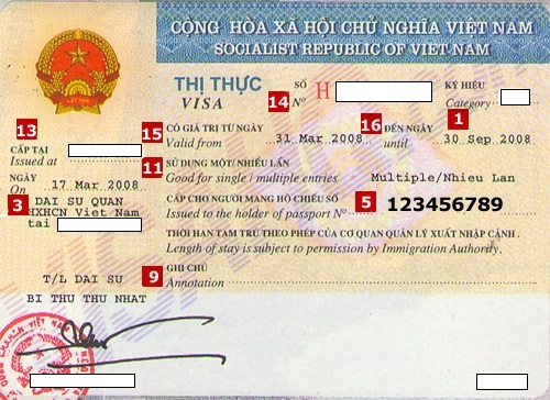 Vietnam visa stamp fee